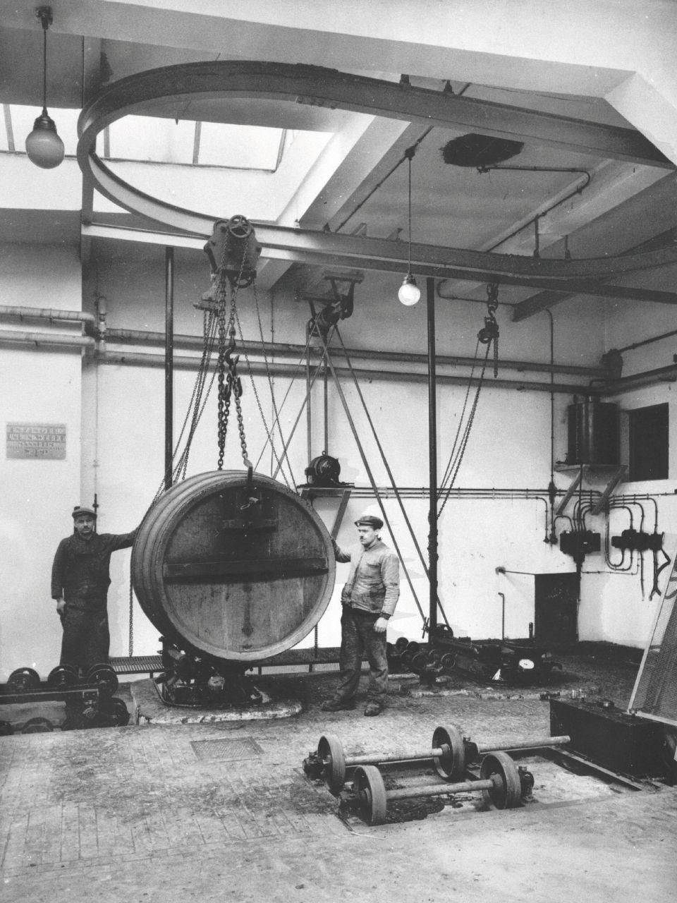 Die historische Fasswichs: Hier wurden die Holzfässer für die Abfüllung vorbereitet.
