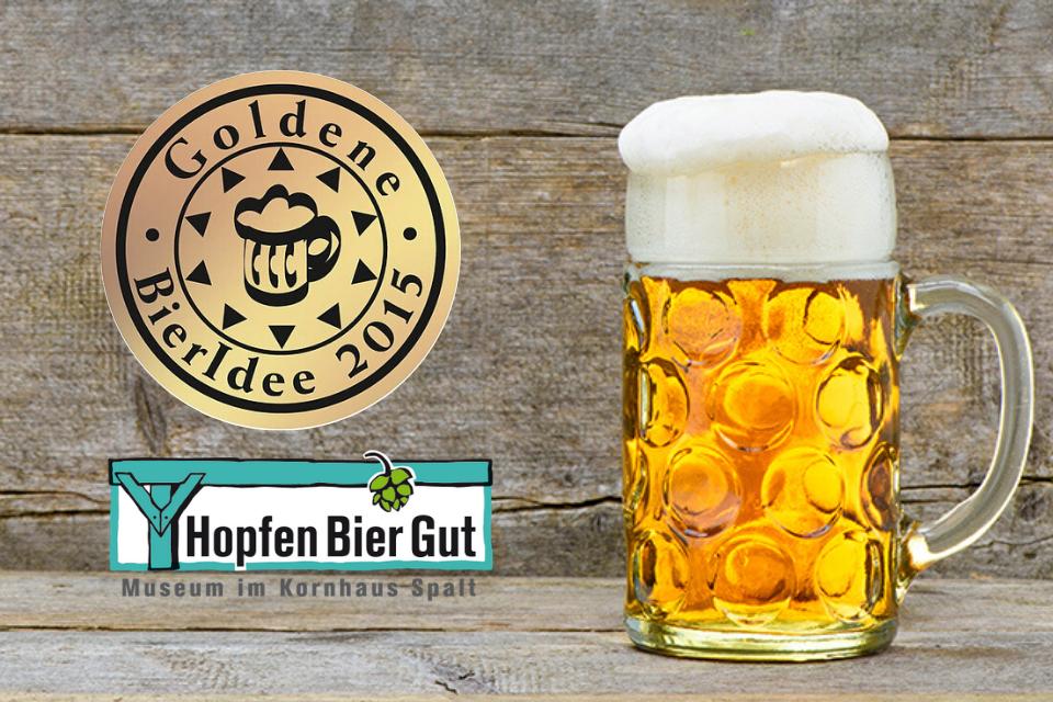 2015 wurde dem Museum HopfenBierGut die Goldene Bieridee 2015 verliehen