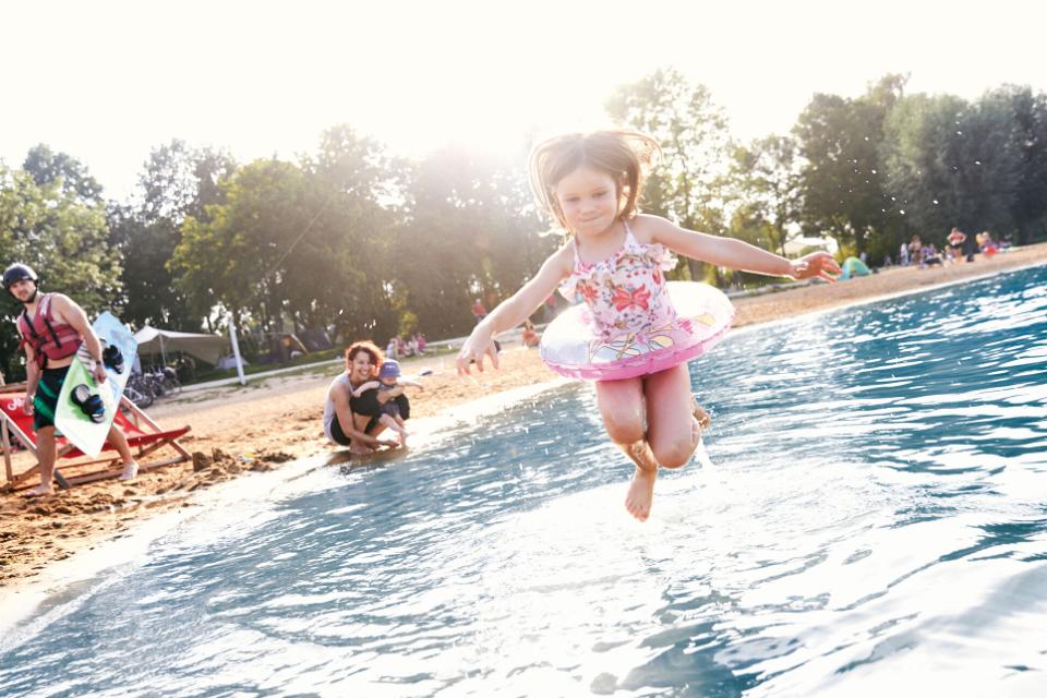 Herrliche Strände und Wassersportmöglichkeiten am Brombachsee