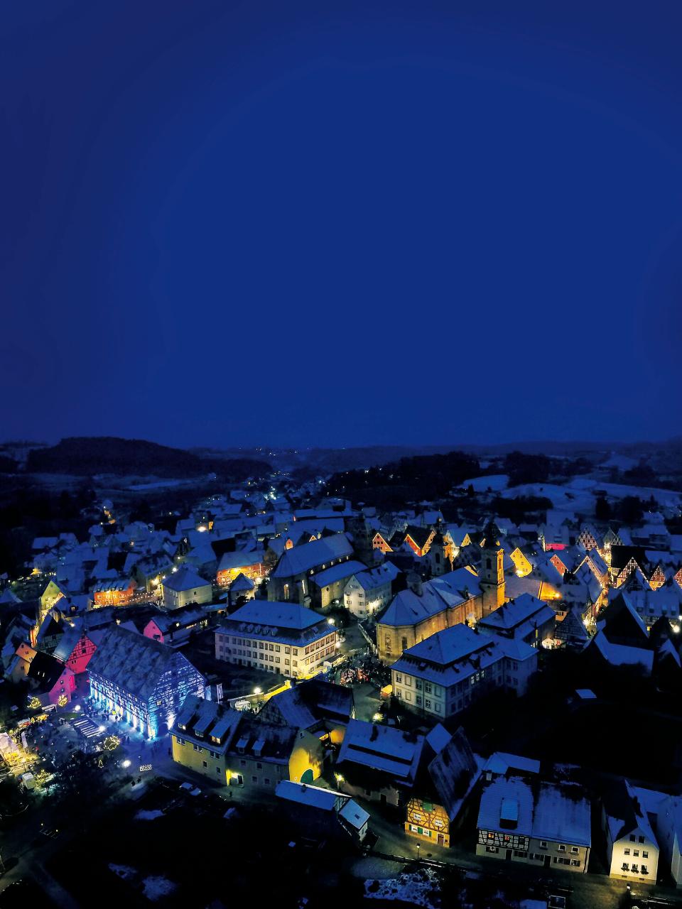 Spalter Altstadt während der Adventszeit